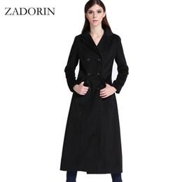 Wholesale Women S Wool Maxi Coat - 2017 Autumn Elegant Women Slim Maxi Long Wool Coat Fashion Turn Down Collar Double Breasted Black Winter Jacket manteau femme
