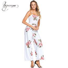 098b5c2c167 New Pattern Tube Top Word Collar Camisole Sleeveless Bohemian Reveal Back  Wide Leg 2018 Summer Jumpsuit Women