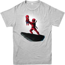2019 camiseta deadpool de marvel Camiseta de Deadpool, Spiderman Lion King Spoof, Marvel Comics Adultos y niños Tamaños Unisex Funny High Quality Casual gift camiseta deadpool de marvel baratos