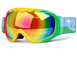 f4ec3d12a9247 Venta al por mayor esférica doble capa antivaho niños gafas de esquí niños  gafas de esquí escalada al aire libre gafas de esquí envío gratis