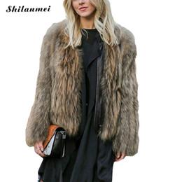 Deutschland 2017 frauen Jacke 6xl Plus Größe Fuchspelzmantel Patchwork Pu-lederjacke Pelzmantel Flauschigen Winter Frauen Kurze Pelz cheap winter woman leather jacket fox Versorgung
