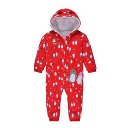 Wholesale Jumpsuit Winter Padded - Baby Winter Romper Jumpsuit Long Sleeve Cotton Padded Boy Girl Overalls Newborn Hooded One Piece Romper Jumpsuit Unisex Winter Baby Clothes