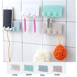Wholesale pop shelf - Practical Pop Wall Phone Holder Socket Charging Box Bracket Stand Holder Shelf Mount Support Universal for Mobile Phone Tablet