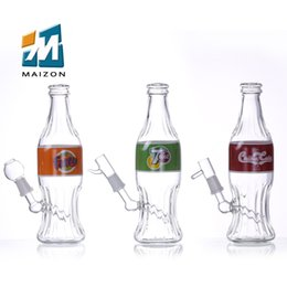 Wholesale Bottled Water Design - glass bongs with drink bottle OEM design smoking glass water pipes AU CA USA style wholesale