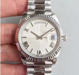 Wholesale Mechanical Face - new luxury watch men automatic rolix 41MM DAY DATE Black face Mechanics men's watches original 18K Gold Stainless steel clasp