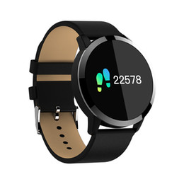 Wholesale Iphone Blood - Q8 Smart Watch Blood Oxygen   Sleep   Heart Rate Monitor Information Push For Iphone 6 7 8 X Bluetooth Smart Watch For Android iPhone