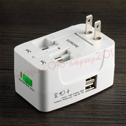 Wholesale usb plug converter - All in One 2 USB Port & 1 Usb Port & Without Usb port World Travel AC Power Charger Adapter with AU US UK EU Converter Plug