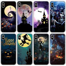 casos de iphone de halloween Rebajas Carcasa del teléfono de Halloween Pumpkin Ghost Cubierta trasera suave de TPU para iPhone X XR XS Máx.