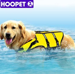 Wholesale Life Vest Wholesale - Big Large Dog Life Jacket Safety Vest Surfing Swimming Clothes Summer Vacation Oxford Breathable Mesh Bulldog S-7XL