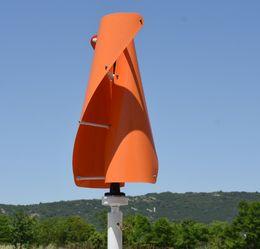 Potenza generatore turbina eolica online-Generatore di energia elettrica del mulino a vento dell'asse verticale di 400W 12V / 24V generatore VAWT generatore di giri basso domestico generatore di vento della LLFA