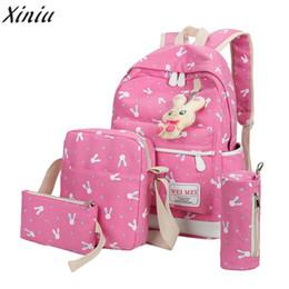770eeaee7b1 Women Cartoon Print Rucksack Style Sequin Travel Satchel For Teenage Girls  School Bag Canvas Cute Printing High Quality Backpack