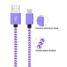 Wholesale Packaging Cord - Fabric Braided Data Sync USB Cable USB Charging Cable USB Type C Cord For Android Cellphone without Package