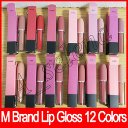 Wholesale Cosmetic M - Newest M brand Lip cosmetics Selena Christmas limited edition bullet lipstick Lustre Lip Gloss free shipping