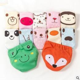calças de treino de fraldas de pano Desconto Fraldas do bebê Fraldas Reutilizáveis Fralda de Pano 3D Animal Fox Sapo Lavável Bebês Calças de Treinamento de Algodão Recém-nascido Do Bebê Calcinhas Fralda Mudança