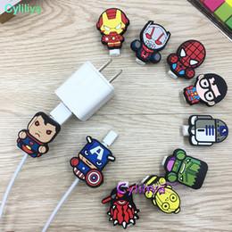 Cable de dibujos animados USB Protector Gestión de la línea de datos Clip Clip Protetor De Cabo Cable Winder para iPhone Samsung Huawei desde fabricantes
