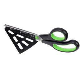 Wholesale Piece Flatware - Multi Functional Stainless Steel Pie Cutter Flatware Pizza Sissors With Detachable Spatula