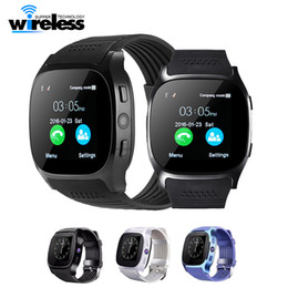Wholesale Gps Music Player - T8 Bluetooth Smart Watch Support SIM TF Card With Camera Sports Wristwatch Music Player For Android