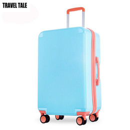 "Wholesale Suitcase Abs - TRAVEL TALE 20""24 blue green pink carry on suitcase spinner pc abs travel trolley cabine luggage for girl"