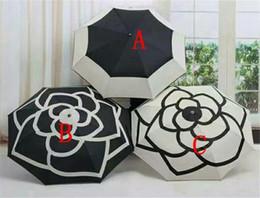 Роскошный бренд Fold Umbrella Camellia Цветочный зонтик Зонтик Зонтик с сумкой Цветение камелии от