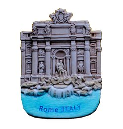 Wholesale 3d Stickers Italy - Rome Trevi Fountain Hand-Painted Aromatherapy 3D Fridge Magnets Italy Travel Souvenirs Refrigerator Magnetic Sticker