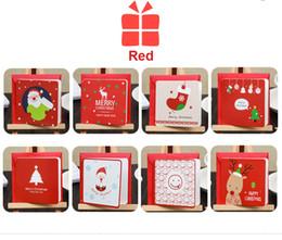 biglietti da visita busta Sconti 144Pcs Handmade Merry Christmas Biglietto di auguri con busta Gift Card Christmas Cards Handmade Business Natale