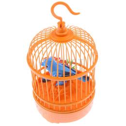 Wholesale Bird Cage Pet - Sound Voice Control Electric Bird Pet Toy Electric Simulation Induction Bird Cage Birdcage Kids Toy Gift Garden Ornaments Orange
