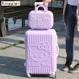 a86a42dfe086 child carry bag NZ - Hello Kitty RollingLuggage bag