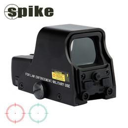 Punto rojo vista para la caza online-Pico táctico 1X22mm holográfica roja refleja Green Dot Sight caza al aire libre la vista del alcance ajustable Brillo 551 552 553 Negro.