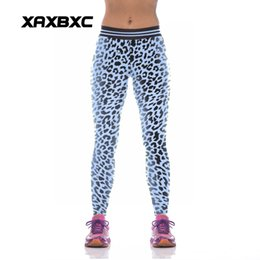 girls sexy leggings Promo Codes - NEW KYK1038 Sexy Girl Women Leopard 3D Prints High Waist Polyester Fitness Leggings Pants Plus Size