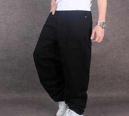fbf84fb8d22 plus size black wide leg pants Coupons - 2017 Men Wide Leg Denim Pants Hip  Hop