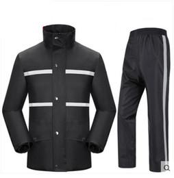 Wholesale waterproof coats plus size women - Plus Size Men Women Motorcycle Outdoor Rain Coat Pants Suits Waterproof raincoat Fishing rain coat women clothing sets