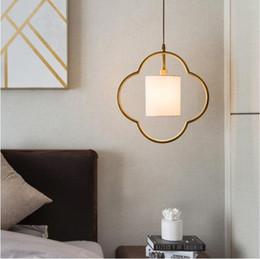 Lámpara colgante china online-SVITZ Nueva lámpara de cobre antigua china pequeña Luces colgantes dormitorio lámpara de noche Restaurante de estilo Zen lámparas de cobre modernas simples