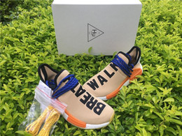 Wholesale Pw Black - 2017 PW HUMAN RACE NMD TR BY PHARRELL WILLIAMS HU AC7361 PALE NUDE CORE BLACK YELLOW NMDS RUNNING SHOES SNEAKERS