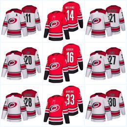 13cf0ace7 Womens 100th Patch Carolina Hurricanes 53 Jeff Skinner 20 Sebastian Aho 21  Lee Stempniak 28 Alexander Semin Andrew Poturalski Hockey jersey
