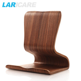 Wholesale Android Tablet Mount - Laricare L-03 wooden tablet phone stand holder,Stable Anti-Slippery Tablet Mobile Phone Holder for iphone ipad Android