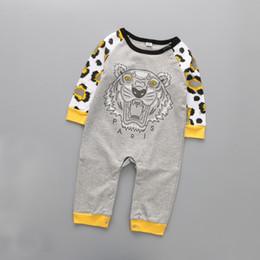 Vêtements en coton à manches longues pour enfants en Ligne-Bébé Barboteuses Automne Automne Cartoon Bébé Vêtements Coton À Manches Longues Enfants Combinaisons Garçons Filles Barboteuses Tenues Bébé Filles Vêtements