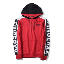 Wholesale Korean Couple Pullover - Hot promotions Star with the same paragraph sweater red men Korean fashion jacket student letter printing hooded couple cotton jacket
