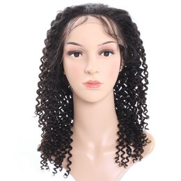 Wholesale Kinky Big Hair Wig - Cheap 8A Popular Big Brazilian Curly Wave Full Lace Wigs Medium Size For African Americans Woman 10-30Inch Wholesale Price Free Shipping