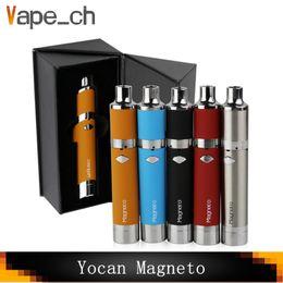 2019 boné de caneta de vapor Original Yocan Magneto Caneta De Cera Com 1100 mAh Bateria Magnética Coil Cap Embutido De Silicone Frasco De Cerâmica Bobina De Cera Vape Canetas boné de caneta de vapor barato