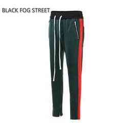 Wholesale FEAR OF GOD STREET nuevo estilo amarillo blanco riri cremallera pantalones Moda urbana ropa pantalones verde rojo basculador justin bieber pantalones