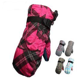 Wholesale Brown Wholesale Skates - Women's Winter Snowboard Gloves for Female Cover Finger Ski Gloves Waterproof Non-slip Skating Skiing Cotton Warm Mittens