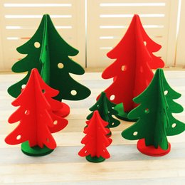 Wholesale Noel Christmas Ornament - Christmas Decoration Non-woven Christmas Decorations for Home Shopping Malls 3D Tree Decorations Window Ornaments Noel