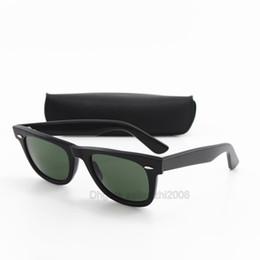 Occhiali da sole di alta qualità per gli uomini online-Il migliore marchio di qualità Plank Occhiali da sole per donna uomo occidentale classico stile quadrato UV400 mens nero grande angolo telaio G15 occhiali da sole con scatola