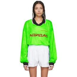Argentina 18FW GOSHA RUBCHINSKIY POLO Tee jersey sudadera suéter de costura al aire libre Street Sweater O-cuello de manga larga con capucha HFYMWY128 Suministro