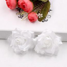 2019 grandi teste di fiori artificiali Display fiore 100 pezzi fiore artificiale grande seta 2 colori fuoco rosa testa per la decorazione di nozze fai da te fiori decorativi fiori finti grandi teste di fiori artificiali economici