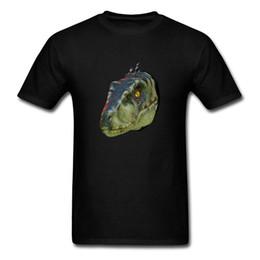 Monitores cool on-line-Monitor Lagarto 2018 Cool Black Tops Homens Cabeça de Animal Design 3D Moda Camiseta de Algodão Tecido Respirável Camisetas