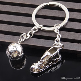disposable cups small Promo Codes - 2018 Russia World Cup Football Keychain New Novel Soccer Shoes Keys Buckle Metal Key Ring Gift Small Light 1 8hy cc