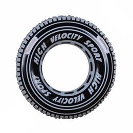 Jungen schwimmen aufblasbare online-Reifen Aufblasbare Schwimmring Float Tube Floß für Erwachsene Jungen 91 cm Riesen Schwarz Schwimmen Kreis mit Griff Wasser Party Spielzeug, HA057
