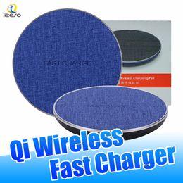 tela di mele Sconti Caricabatterie wireless QI Canvas da 10W per Samsung Caricabatterie ad alta velocità Caricabatterie ad alta velocità per iPhone X con confezione per la vendita al dettaglio