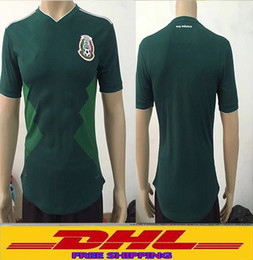 Wholesale Green Batch - DHL Free shipping 2018 Mexico Soccer Jersey Home Player version 18 19 Mexico Camisetas de futbol football shirts Size can be mixed batch